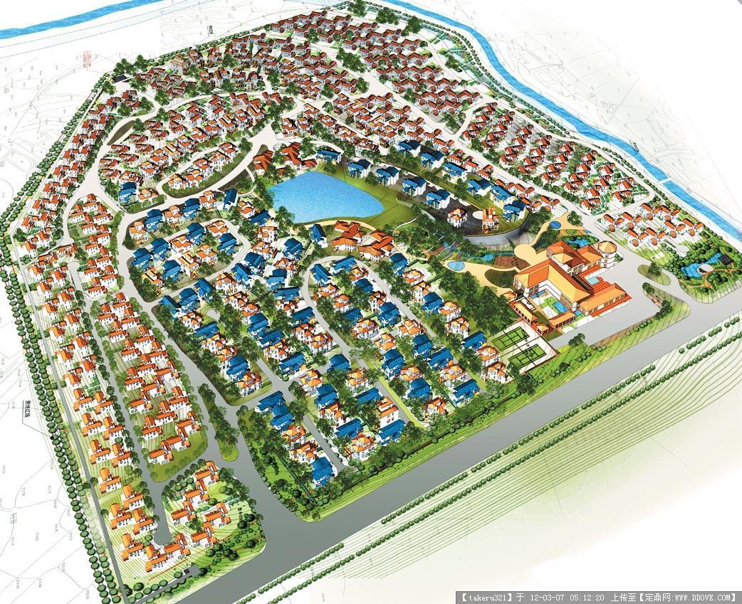 小区规划设计鸟瞰图
